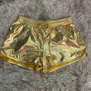 COPY - Gold Metallic Shorts